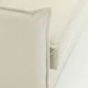 Kave Home Slaapbank 'Samsa' Visco, 160cm, kleur Wit