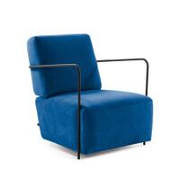 Kave Home Fauteuil 'Gamer' Velvet, kleur Donkerblauw