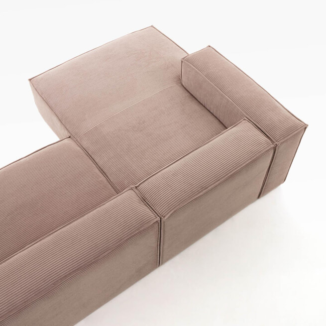 Kave Home Loungebank 'Blok' Rib, Links