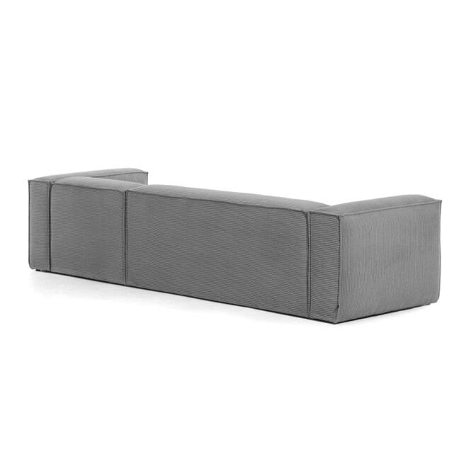 Kave Home Loungebank 'Blok' Rib, Rechts 330cm