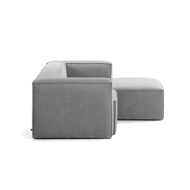 Kave Home Loungebank 'Blok' Rib, Rechts 240cm