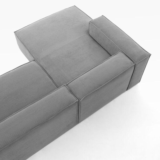 Kave Home Loungebank 'Blok' Rib, Links