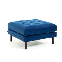 Kave Home Poef 'Debra' kleur Donkerblauw