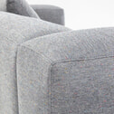 Kave Home Loungebank 'Blok' Rechts, kleur Lichtgrijs