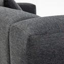 Kave Home Loungebank 'Blok' Links, kleur Donkergrijs