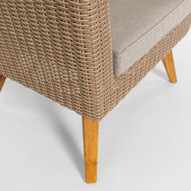 Kave Home Loungestoel 'Sumie', kleur Naturel