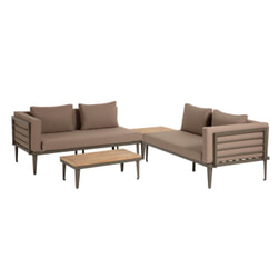 Kave Home Loungeset 'Pascale' met 2 banken