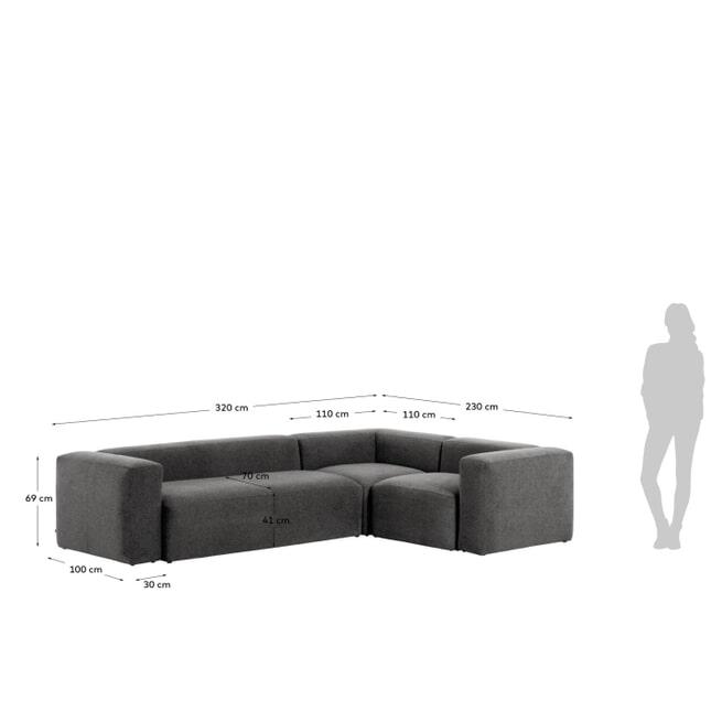 Kave Home 4-zits Hoekbank 'Blok'