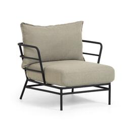 Kave Home Tuin fauteuil 'Mareluz', kleur Grijs