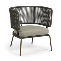 Kave Home Tuin fauteuil 'Nadin', kleur Donkergroen