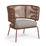 Kave Home Tuin fauteuil 'Nadin', kleur Bruin