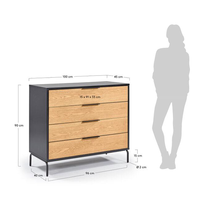 Kave Home Ladenkast 'Stellar' 100cm