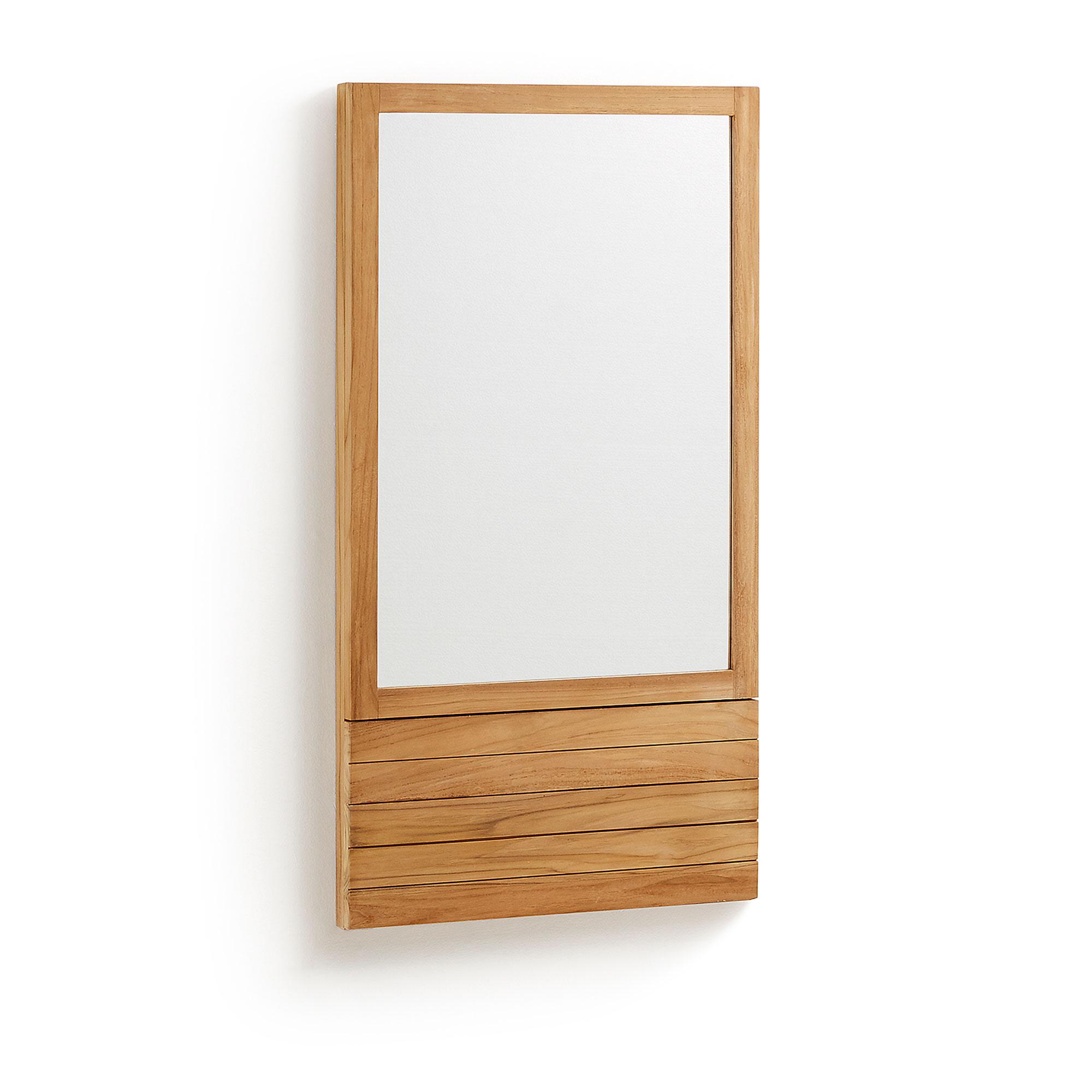 Kave Home Spiegel 'Kuveni' 110 x 60cm, kleur Teak