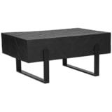 LABEL51 Salontafel 'Float' Mangohout, kleur Zwart