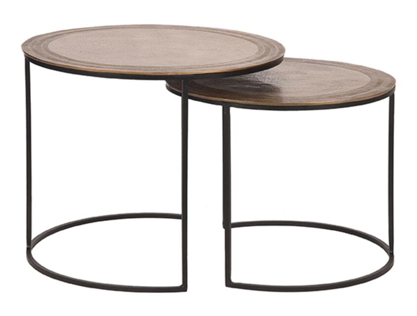 LABEL51 Salontafel 'Circle', 55 x 45cm, Set van 2, kleur Goud