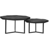 LABEL51 Salontafel 'Figure' Set van 2 stuks, Mangohout, kleur Zwart