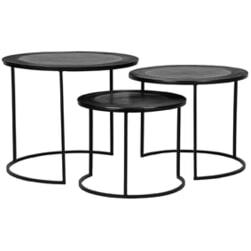 LABEL51 Salontafel 'Tres' Set van 3 stuks, kleur Zwart