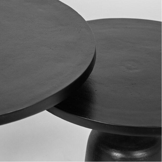 LABEL51 Salontafel 'Wink' Set van 2 stuks, kleur Zwart