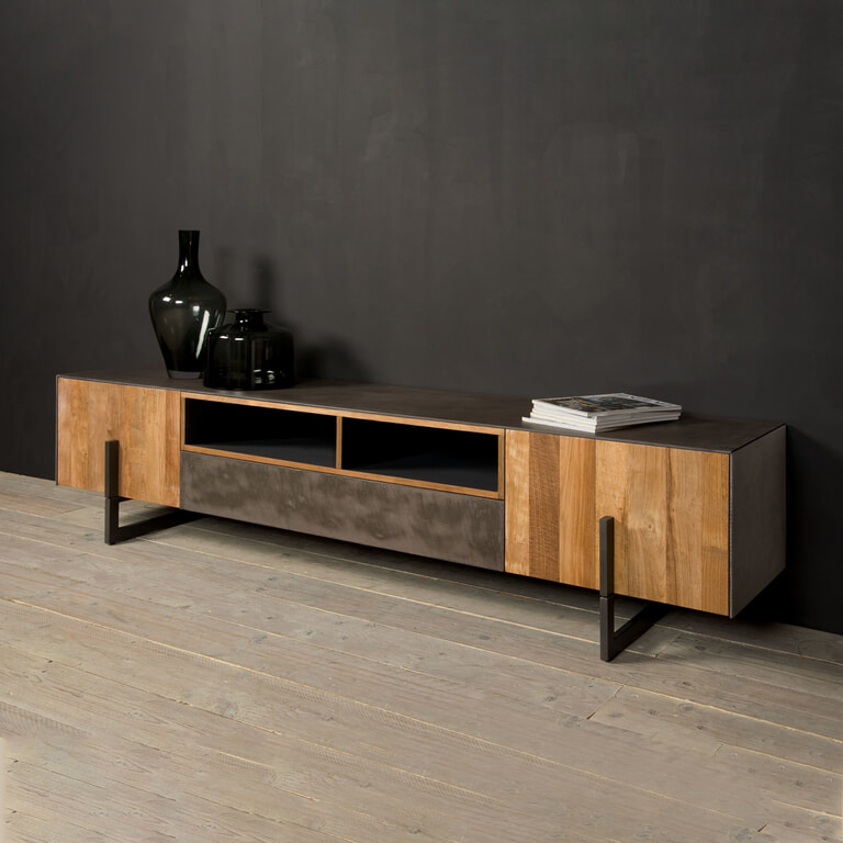 Tower Living Tv-meubel 'Ora' Gerecycled teak, 222 cm