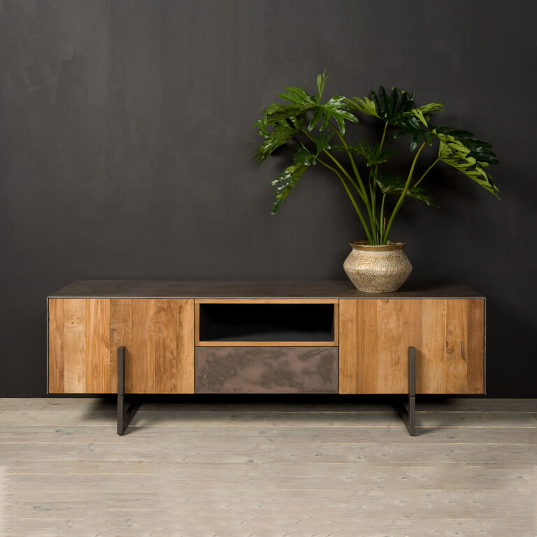 Tower Living Tv-meubel 'Ora' Gerecycled teak, 167 cm