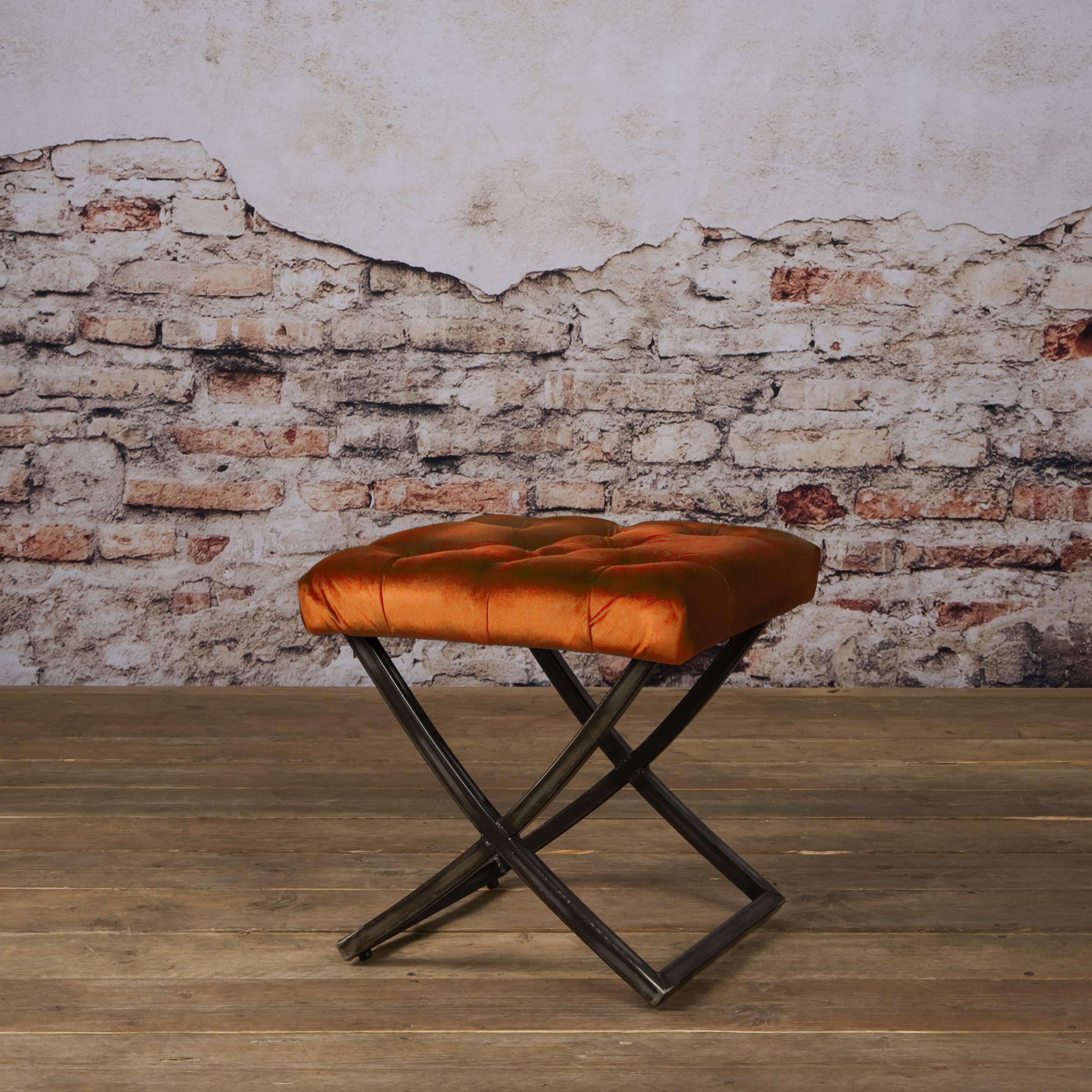 Tower Living Krukje 'Bolton' Velvet, kleur oranje