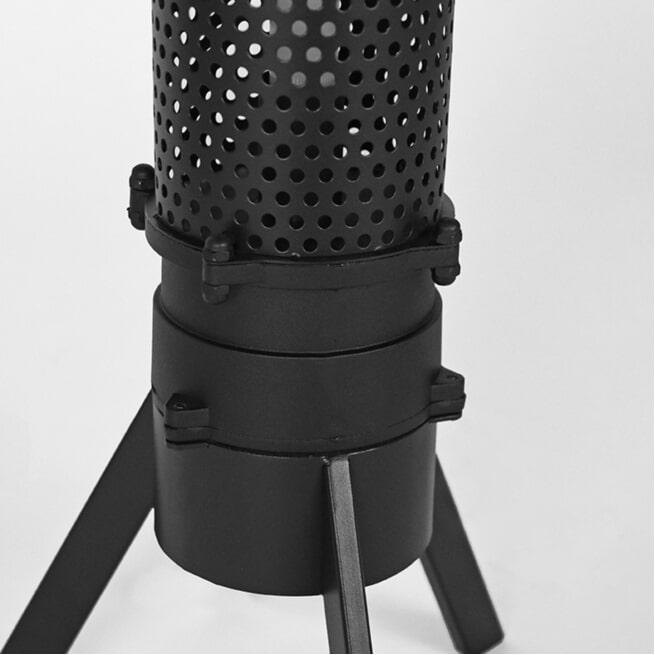 LABEL51 Vloerlamp 'Tube', Metaal, 154cm, kleur Zwart