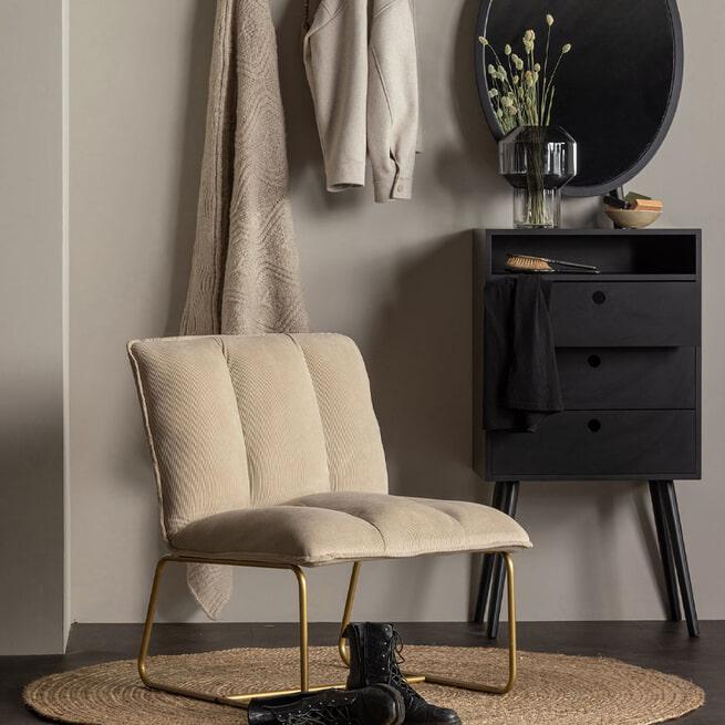 WOOOD Ladenkast 'Vanity' Met spiegel, kleur Zwart
