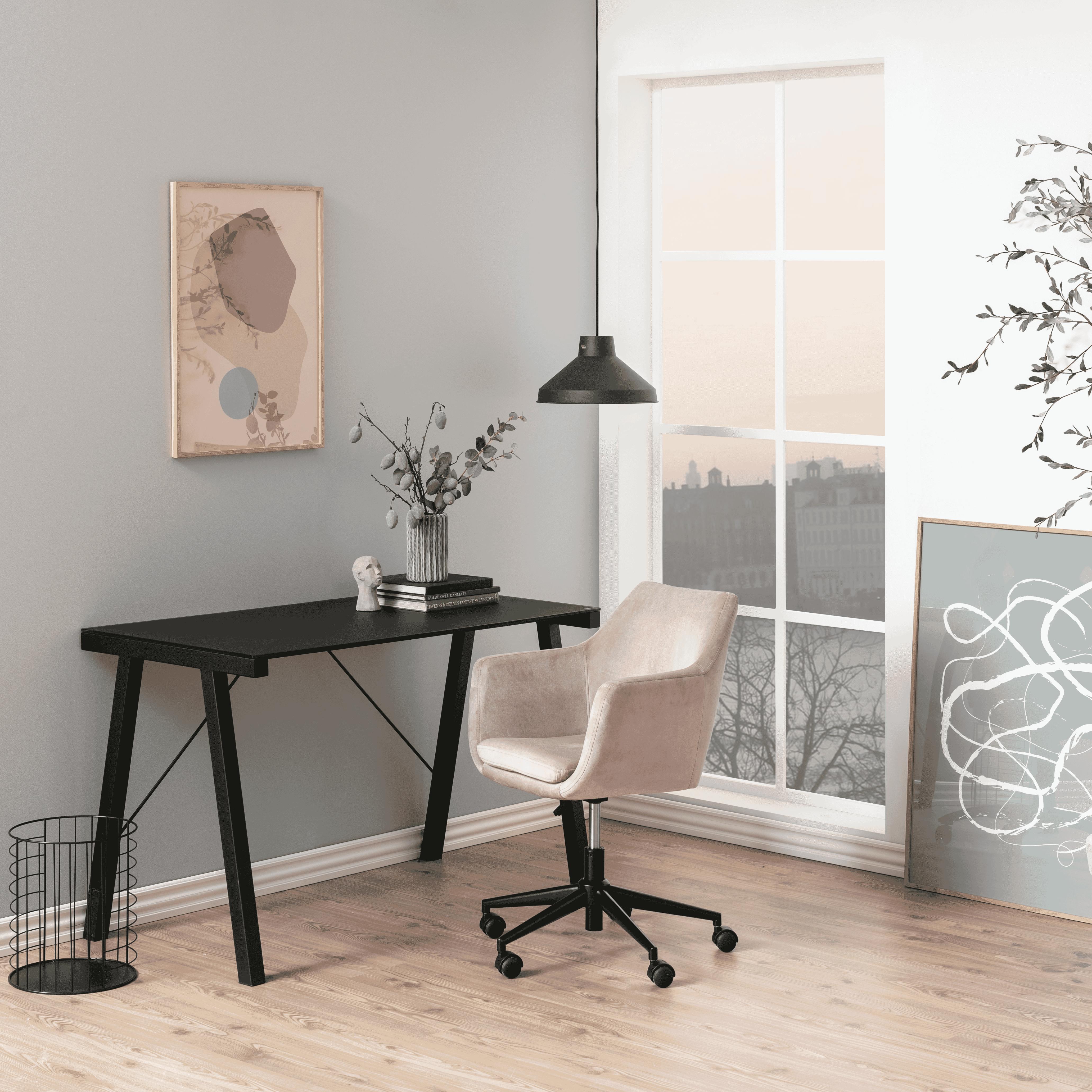 Bendt Bureaustoel 'Rikke' Velvet, kleur Dusty Rose