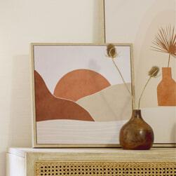 Kave Home Schilderij 'Izem' 40 x 40cm