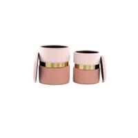 Kayoom Poef 'Zora' set van 2 stuks, kleur roze