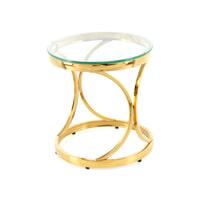 Kayoom Bijzettafel 'Weyda' 40cm, kleur goud