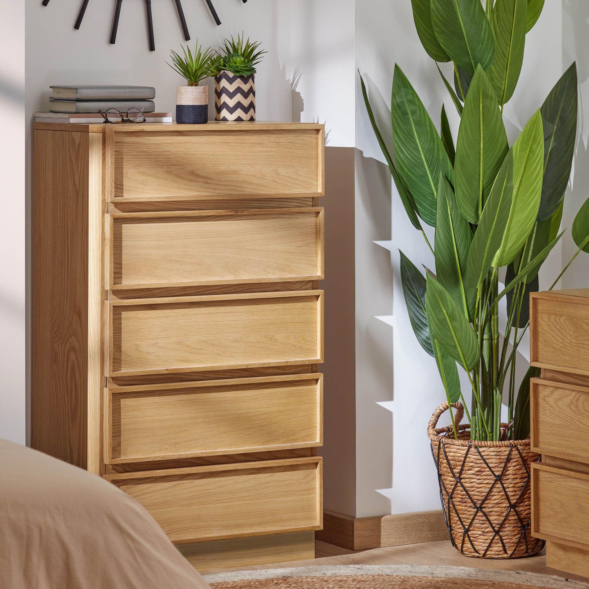 Kave Home Ladenkast 'Taiana' Eiken, 60 x 110cm