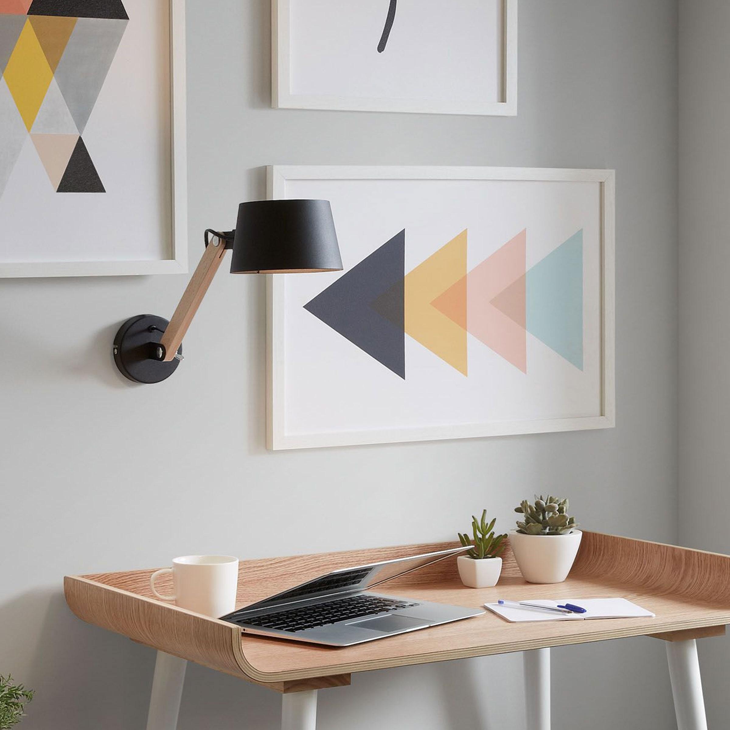 Kave Home Wandlamp 'Muse', kleur Zwart