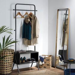 Kave Home Kledingrek 'Celise' kleur Zwart