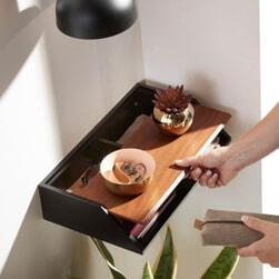 Kave Home Wandplank 'Lusin', kleur Zwart