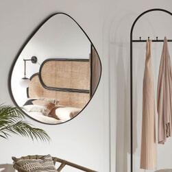 Kave Home Spiegel 'Anera' 90 x 93cm, kleur Zwart