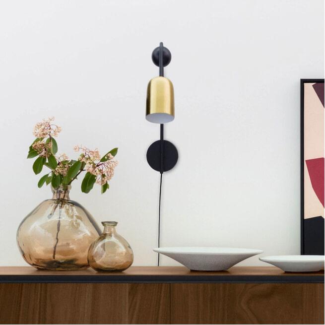 Kave Home Wandlamp 'Natsumi', kleur Koper
