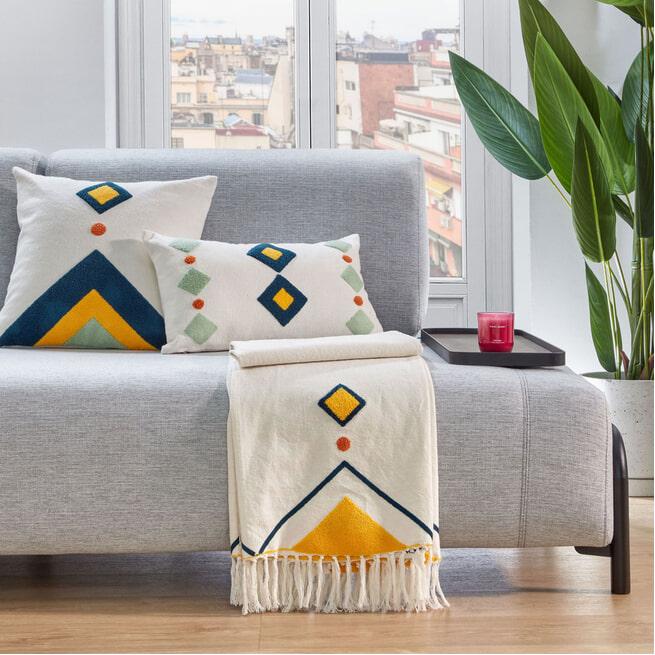 Kave Home Deken 'Itri', kleur Meerkleurig