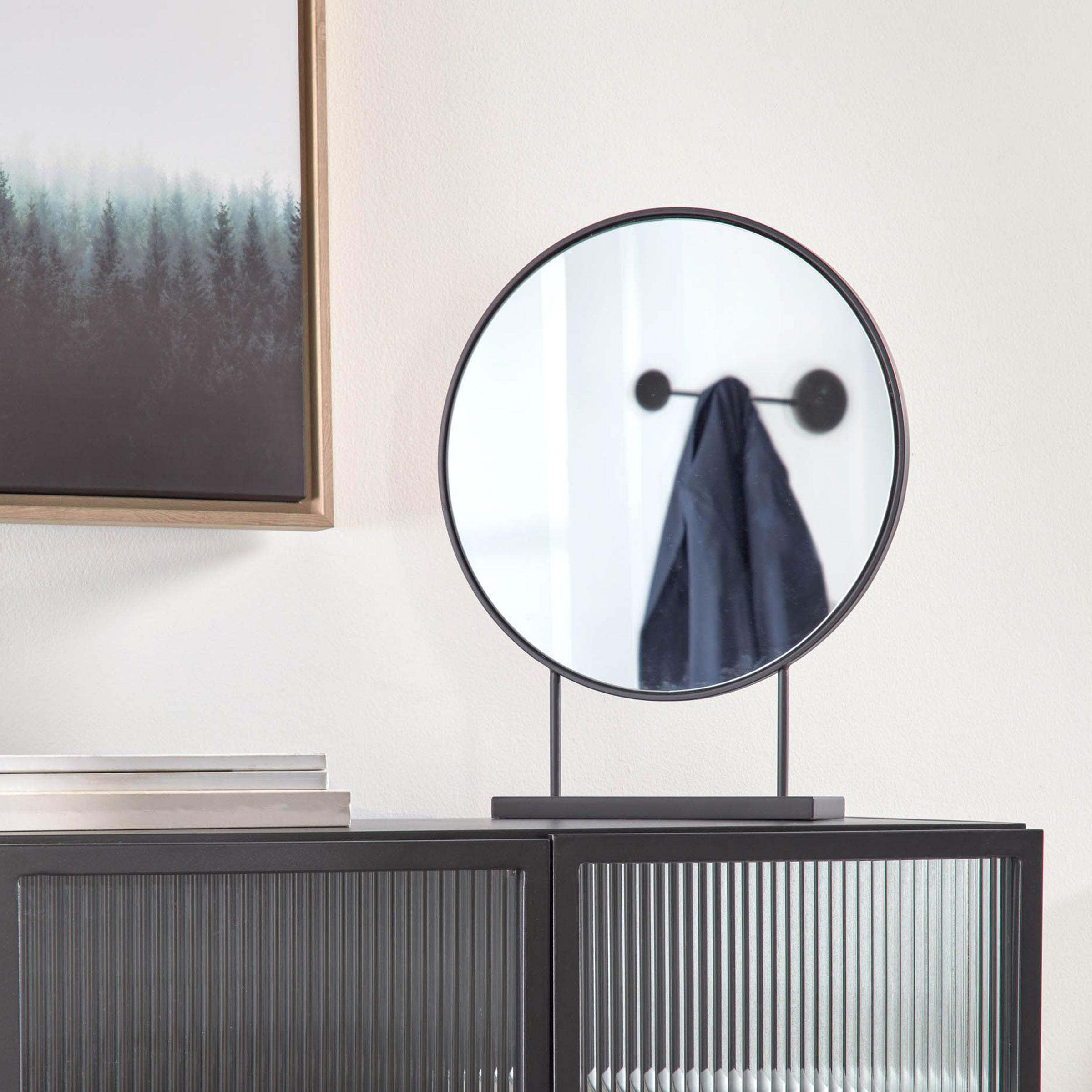 Kave Home Spiegel 'Libia' 45 x 36cm, kleur Zwart