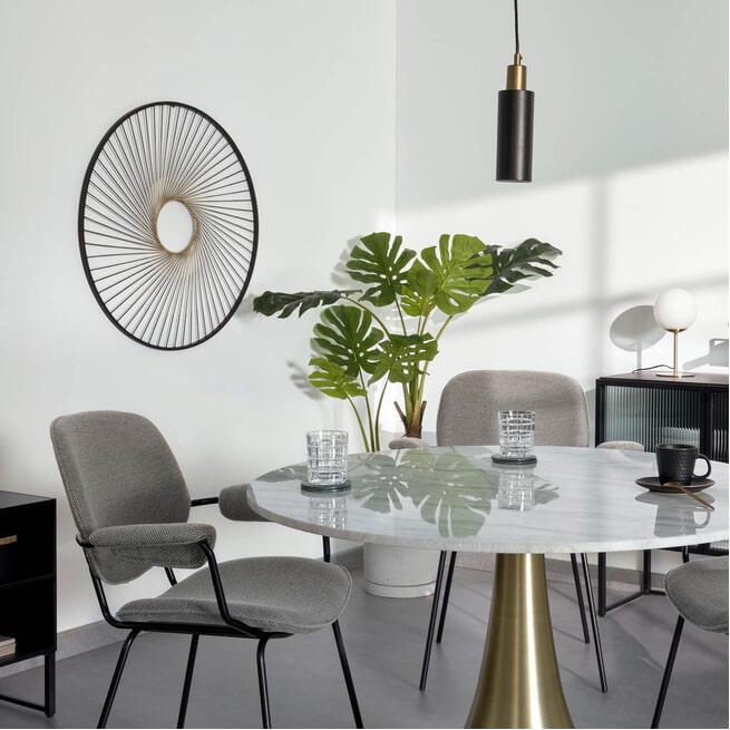 Kave Home Wanddecoratie 'Anush', kleur Zwart
