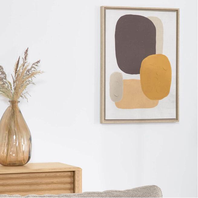 Kave Home Wanddecoratie 'Gara', kleur Geel