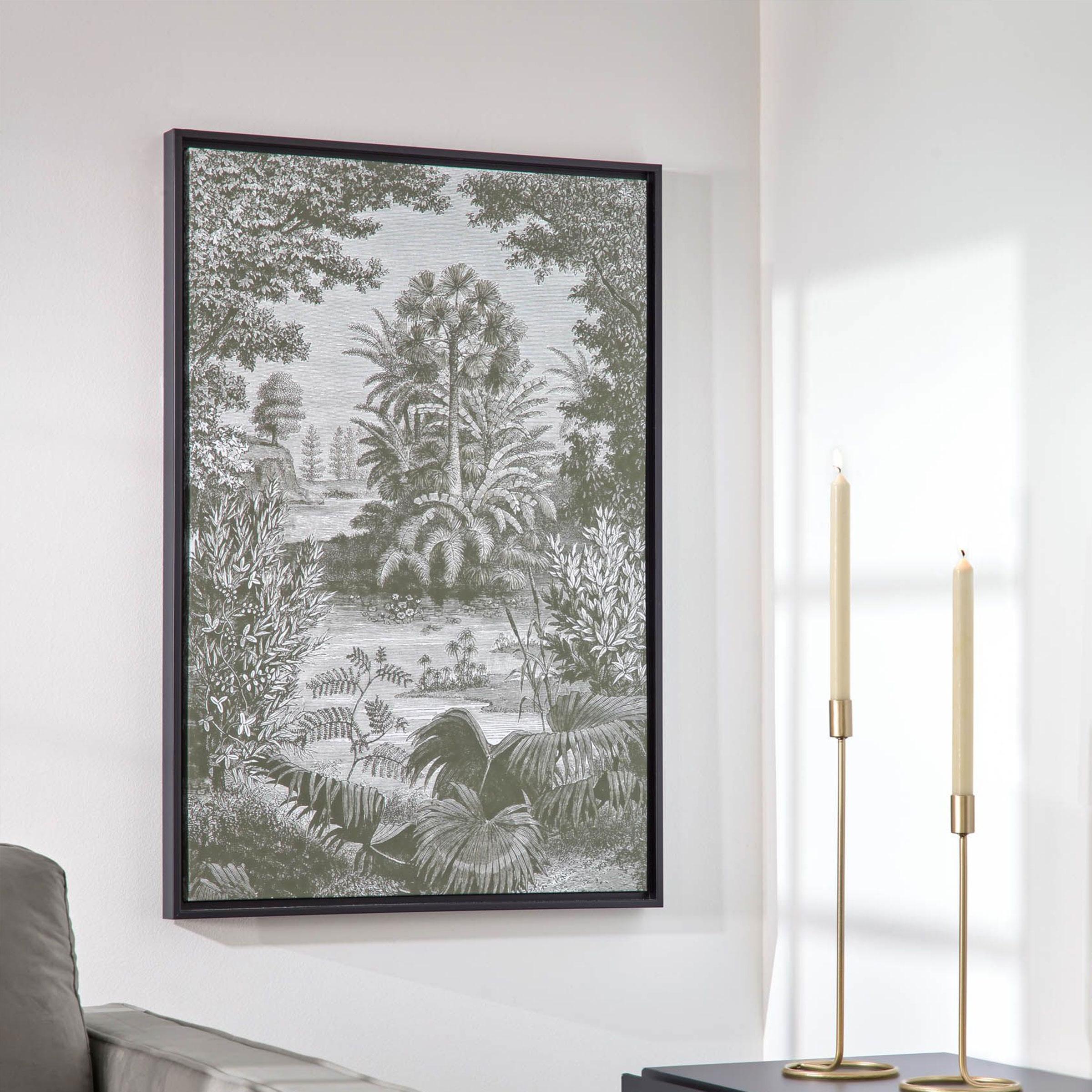 Kave Home Wanddecoratie 'Bamidele', kleur Groen