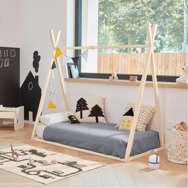 Kave Home Kinderbed 'Kiddo', 140 x 70cm, kleur Naturel