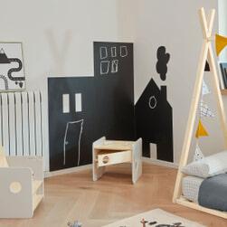 Kave Home Sticker 'Nisi', 115 x 145cm, kleur Zwart
