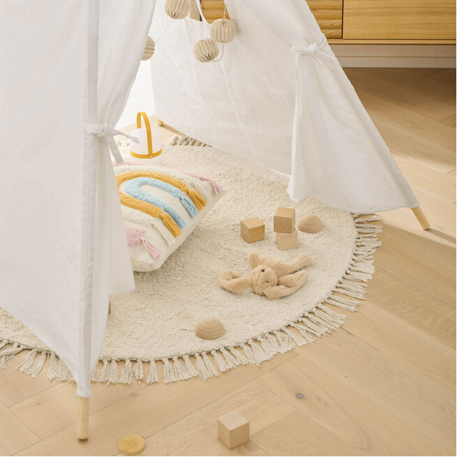 Kave Home Tipi tent 'Darlyn', 156 x 120cm,  kleur Wit