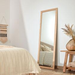 Kave Home Spiegel 'Nerina', 152.5 x 52.5cm, kleur Naturel