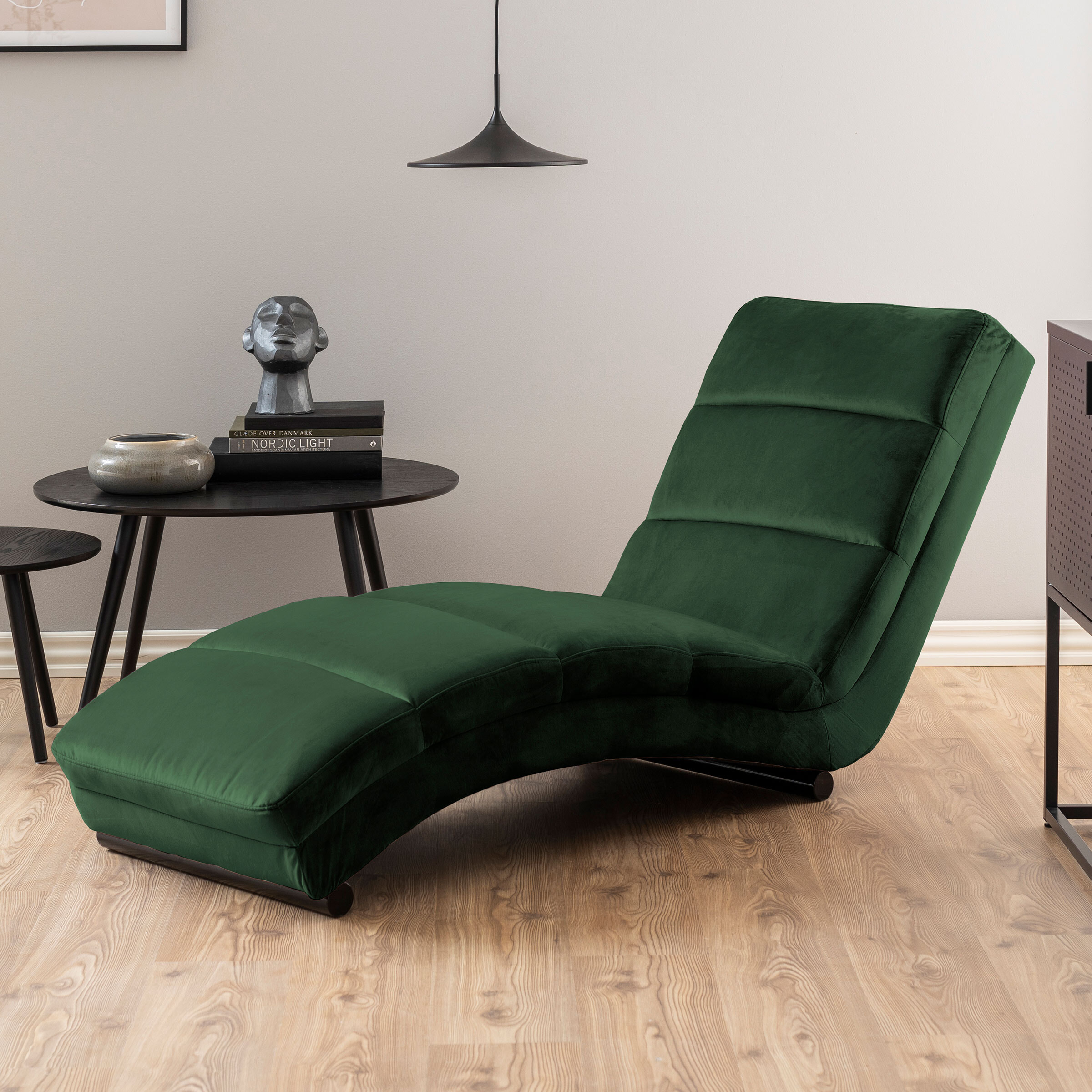 Bendt Relaxfauteuil 'Lauri' Velvet, kleur Forest Green