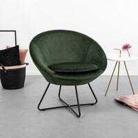 Bendt Fauteuil 'Vagn' Velvet, kleur Forest Green