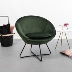 SoHome Fauteuil 'Vagn' Velvet, kleur Forest Green