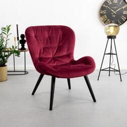 Bendt Fauteuil 'Susse' Velvet, kleur Rood